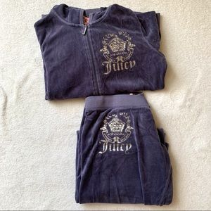 JUICY COUTURE VELOUR TRACKSUIT (LIGHT GREY)
